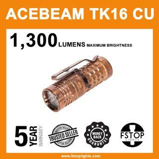 ★ Acebeam TK16 Cu 1,300 Lumens Limited Edition Flashlight (Full Set)