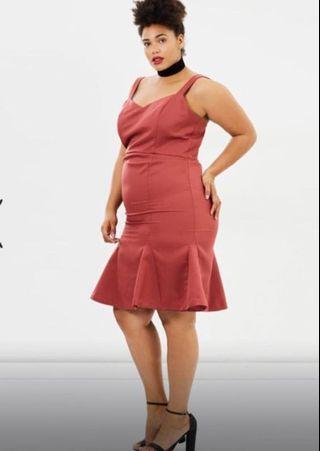 Stunning plus size fitted and flare dress