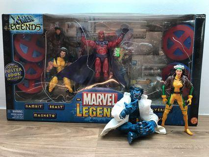 Marvel Legends X-Men box set Magneto Gambit Wolverine Rogue Beast