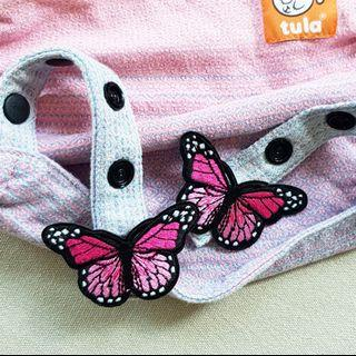 🚚 Monarch Butterfly (Light Pink) Snap On Charm for Tula Snap Hoods