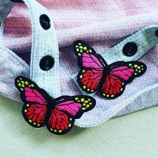 🚚 Monarch Butterfly (Dark Pink) Snap On for Tula Snap On hoods