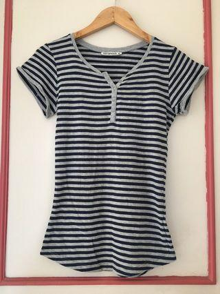 Terranova button stripe shirt