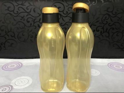 🚚 Authentic Tupperware 750ml Gold Eco Flip Top Water Bottle