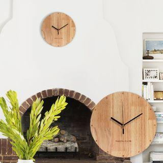 ROUND BASSWOOD WALL WOODEN CLOCK