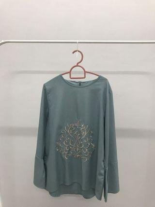 Blouse Disty Mint Blue