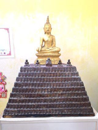 🚚 Antique Ayutthaya Buddha on A thousand Buddhas Bucha- SUPER RARE!!!($850 - Fast deal)