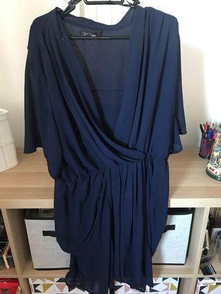 Navy plus size dress
