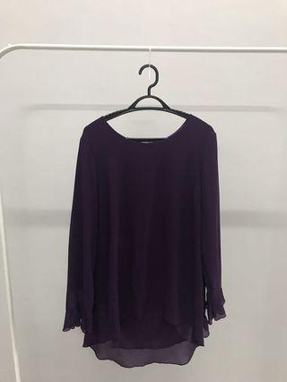 Poplook Purple Blouse
