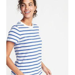 blue stripe tee short sleeve