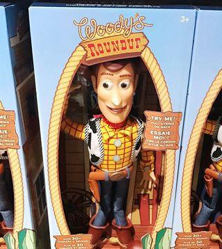 Woody Round Up Over 30+ Phrases & Sounds Pull String on back Disney doll toy