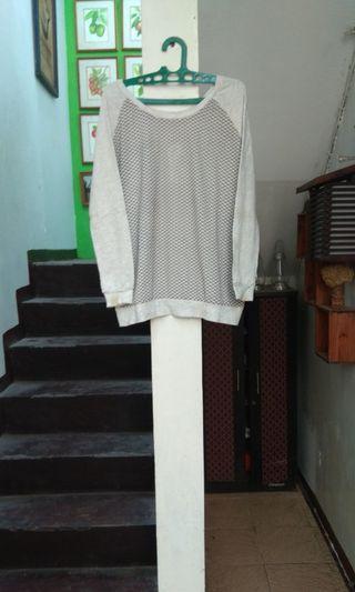 Sweater semi rajut Abu big size jumbo
