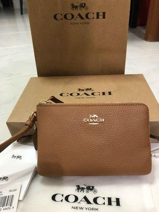 Coach Wristlet (Double zip) (Other design on my page)