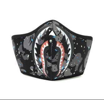 Bape Space Camo Shark Mask