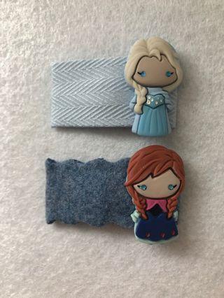 Handmade Hair Clip Set - Frozen Theme