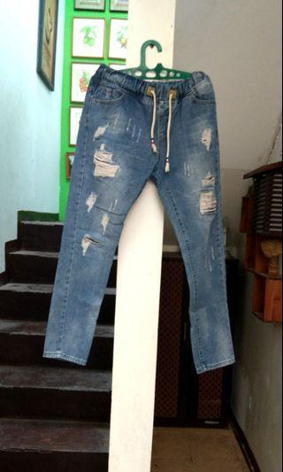 Celana Ripped Jeans big size jumbo
