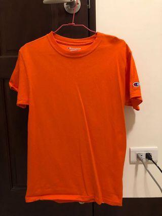 橘色champion T恤