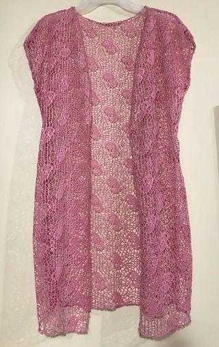 Pink lace cover up