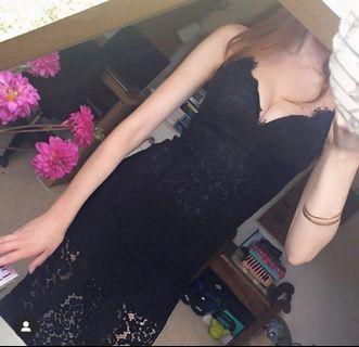 New XS Bardot Lace Dress