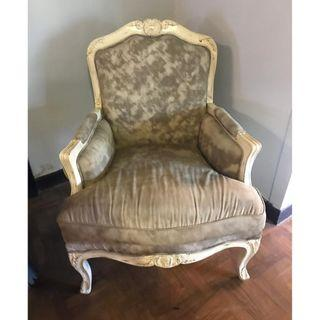 Used wooden chair for sale. grey color