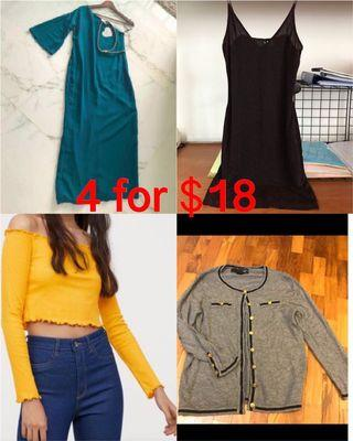 4 items for $18