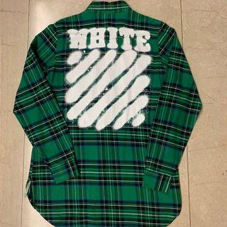 Off White Signature Checked Flannel Shirt