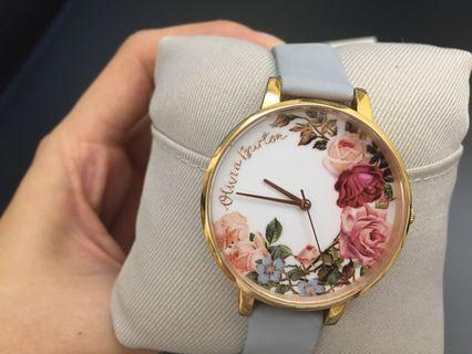 Authentic Olivia Burton English Garden Chalk Blue and Rose Gold Watch in Perfect Condition (99% New)