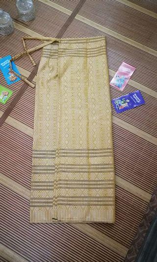 Skirt Songket Pario - Warna gold ( saiz 44-46)