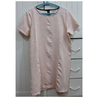 This April Pink Stripes Dress