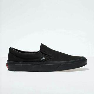 vans classic slip on full black