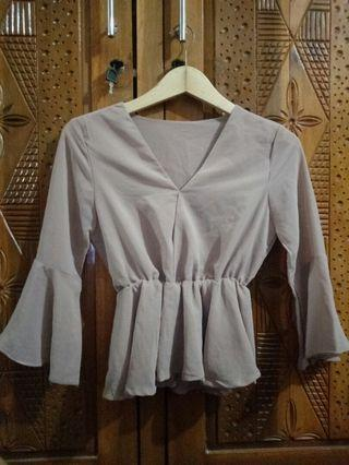 Blouse Mocca Top