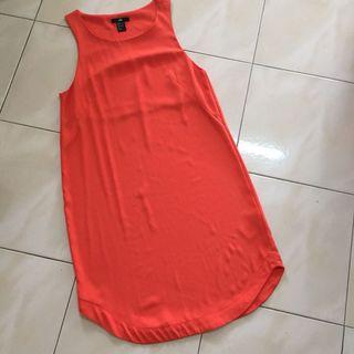 H&M orange Dress #JunePayDay60