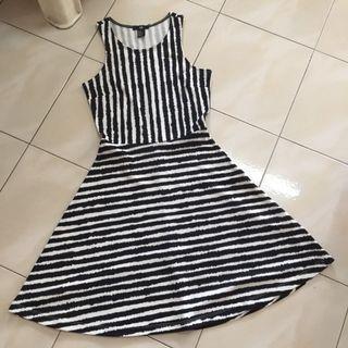 H&M stripes Skater Dress #JunePayDay60