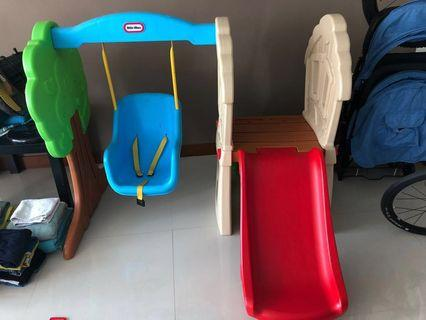 Little tikes slide and swing