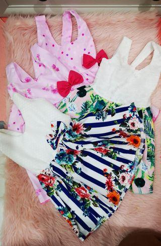 Baby Dress by Little Amarah 4 pcs bundled