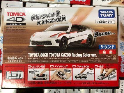 全新日版 Tomica 4D Toyota 86GT Toyota Gazoo Racing Color ver.