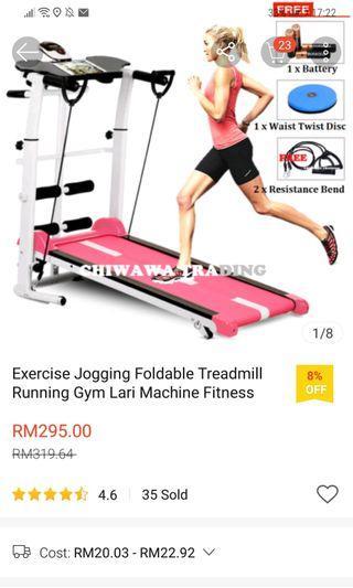 Exercise Jogging Foldable Treadmill Running Gym Lari Machine Fitness