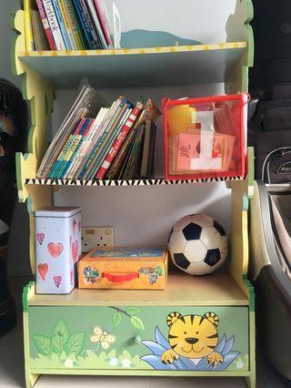 Vibrant Wooden Kids' Shelf