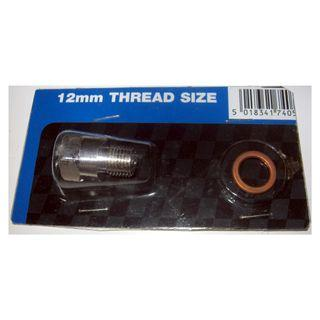 14mm to 12mm spark plug screw-on adaptor fitting. Suitable for use with colourtune set, cylinder compression set and cylinder leak down tester set with 14mm male adpator