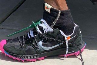 Off-White x Nike Zoom Terra Kiger 5 Black Pink