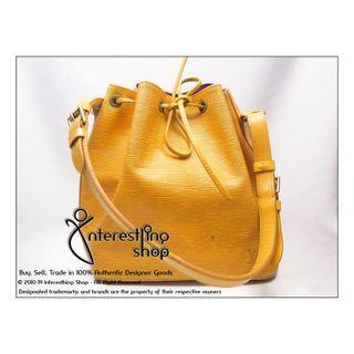 Starting Bid: $280 END 27/06 PM- # R0001. Authentic Pre-Owned Louis Vuitton EPI Yellow Petit Noe (NON-NEG)