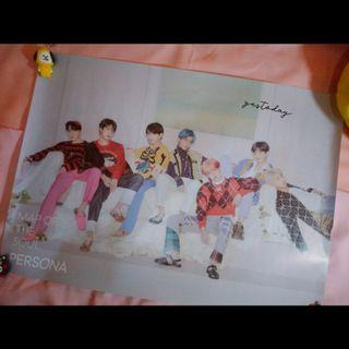 OFFICIAL POSTER BTS PERSONA MAP OF THE SOUL ALBUM