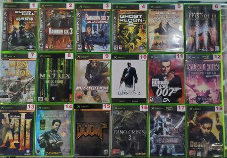 二手Xbox第一代舊機遊戲 (#Part:1) (#詳細價錢請參考內文)