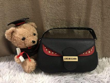 Love Moschino Calf Leather Shoulder Bag