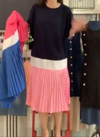 🚚 Miss mannequin stella marine colourblock Dress