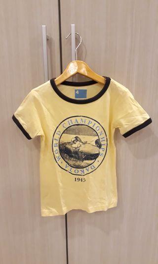 Cotton On kids yellow tshirt