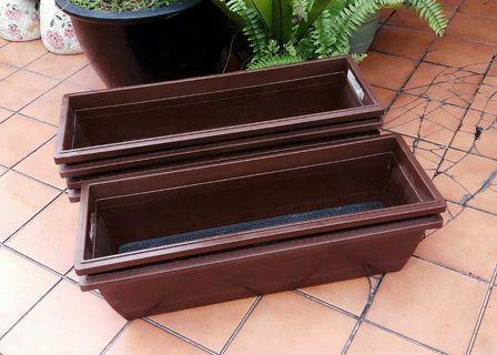 Baba Planter Box No.518 - Dark Brown (L67.3 W23.3 H19 cm)