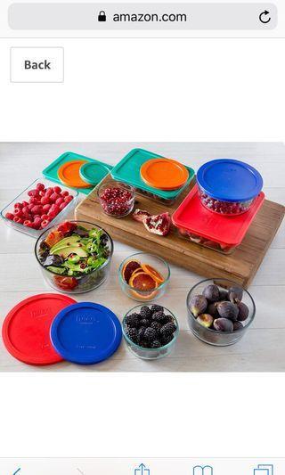 Pyrex Simply Store Glass Rectangular & Round Food Container Set (18pcs, BPA free)