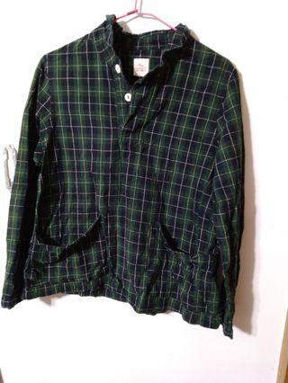 🚚 日系綠色襯衫