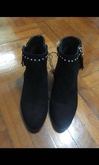 Primark Black suede low ankle boots