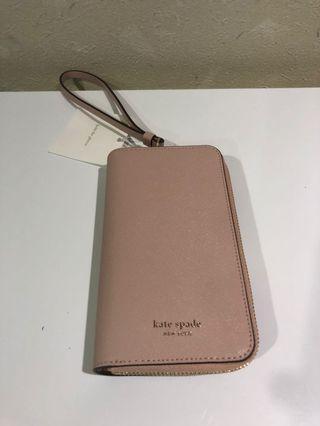 Kate Spade 粉紅手機包
